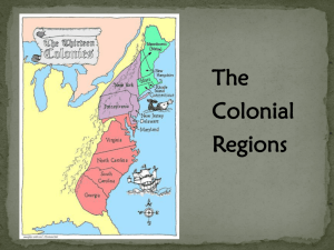 Colonial Regions PPT