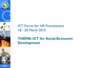 ICT Forum for HR Practitioners 18 - 20 March 2015 THEME