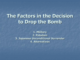 united states decision to drop the atomic bomb dbq Dbq practice activities  for each dbq question and list of specific factual  the united states decision to drop an atomic bomb on hiroshima was a diplomatic.