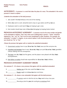 pronoun-antecedent agreement errors