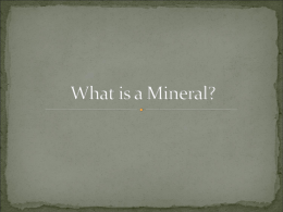 Minerals Study Guide