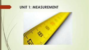 unit 1: measurement