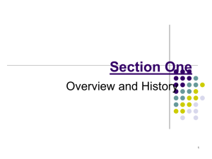 Section One - Academic Csuohio