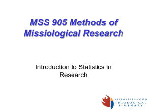 Mostert's Introduction to Statistics in Research