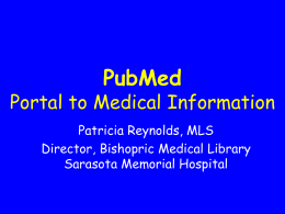 PubMed 2 - Sarasota Memorial Hospital