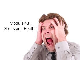 Module 43: Stress and Health