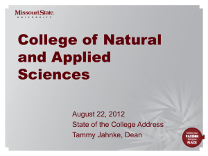 Slide 0 - College of Natural and Applied Sciences