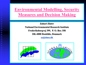 Environmental Modelling, Security Measures and Decision
