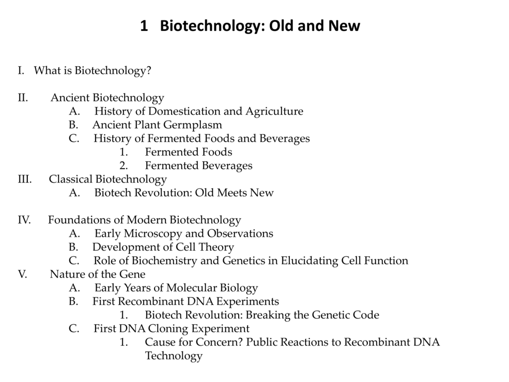 What is biotechnology History and achievements of biotechnology 6