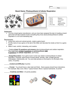 Board Game: Photosynthesis & Cellular Respiration