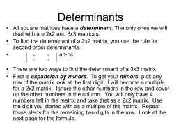 Chapter 4-5:Determinants