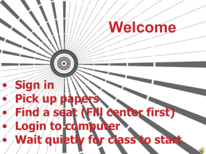 Welcome PowerPoint - Mr. Beatty's Class