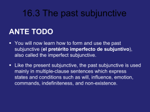 16.3 The past subjunctive