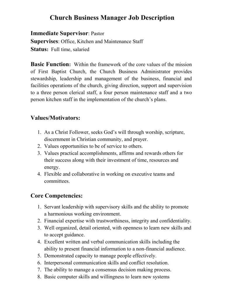 Click Here To View Job Description