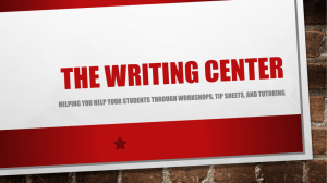 The Writing Center - Ivy Tech Community College