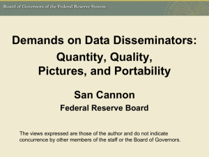 Emerging Trends in Data Dissemination: Quantity, Quality, Pictures