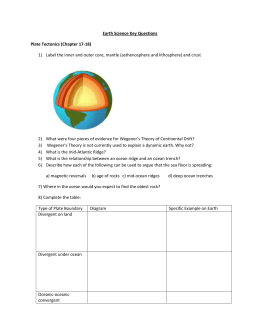 Earth Science Key Questions Plate Tectonics (Chapter 17