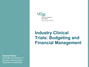 Industry Clinical Trials: Budgeting and Financial