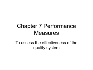 Chapter 7 Performance Measures