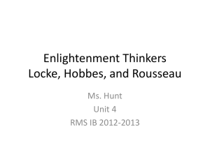 Enlightenment Thinkers Locke, Hobbes, and