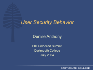 User Behavior Study