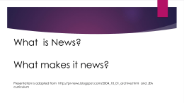 What is News? - Rhonda Leese