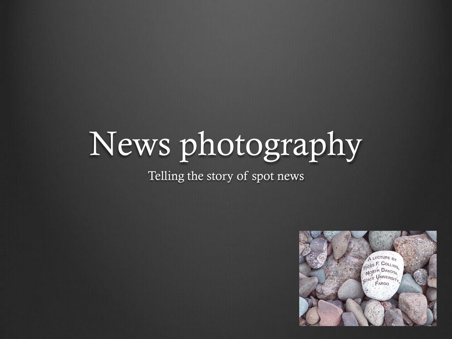 Principles of news photography