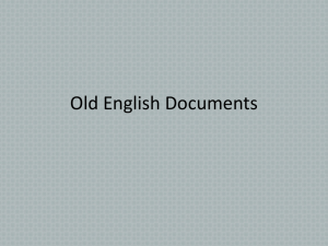 Old English Documents