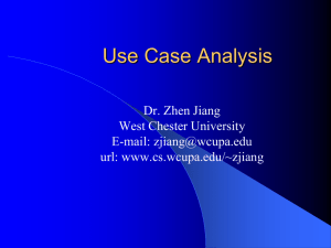 Use cases. - West Chester University