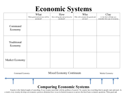 Comparing Types of Economies