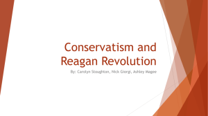 Conservatism and Reagan Revolution