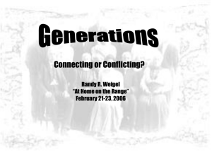 Generations: Connecting or Conflicting?