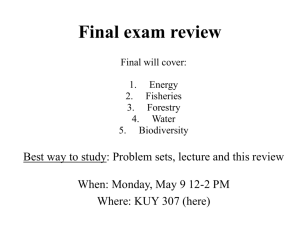 Final exam graph review
