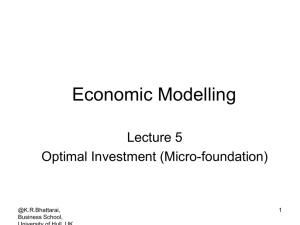 Optimal investment (micro-foundation)