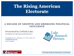The Rising American Electorate