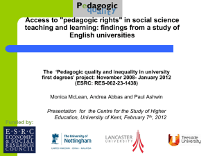 "Access to ""pedagogic rights"""
