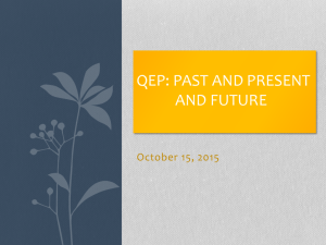 QEP Past, Present, and Future