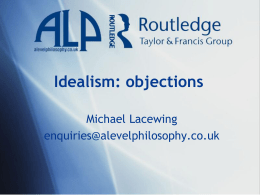 Idealism: objections