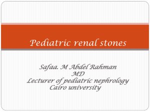 Pediatric renal stones --- 23/11/2014