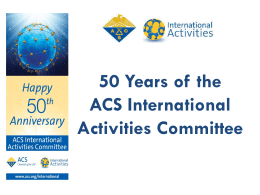 50 Years of the International Activities Committee