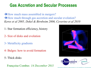 Gas Accretion and Dynamics of Galaxies
