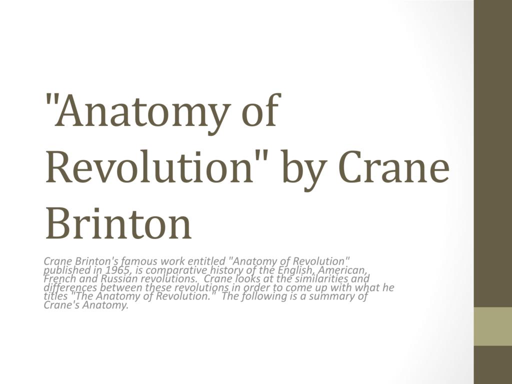 Crane-Brinton Model of Revolution PPT