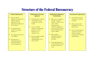 Organizational Chart of the Federal Bureaucracy