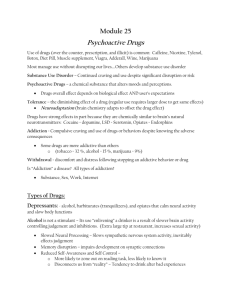 Module 25 Psychoactive Drugs - Grants Pass School District 7