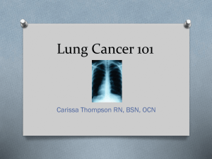 Lung Cancer 101 - UnityPoint Health