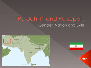 Purdah 1 And Persepolis