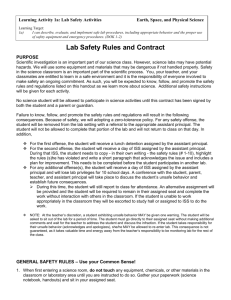 UE Act 1a - Lab Safety Rules and Contract