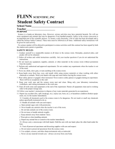 Safety Contract form