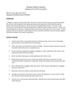 Lab Safety Contract - Warren County Schools