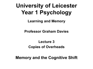 University of Leicester Year 1 Psychology